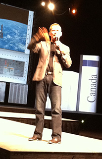 Chris Hadfield in Edmonton September 12, 2013